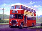 1960s Paintings - Devon General AEC Regent by Mike  Jeffries
