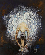Performing Metal Prints - Devotion Metal Print by Karina Llergo Salto