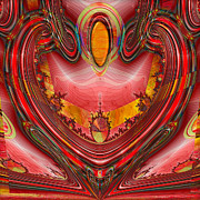 Abstract Hearts Digital Art - Devotion by Wendy J St Christopher