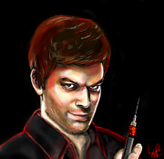 Michael C Hall Prints - Dexter By Design Print by Vinny John Usuriello