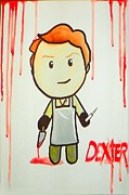 Serial Killer Painting Prints - Dexter Print by Marisela Mungia