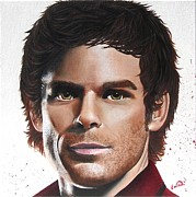 Michael C Hall Prints - Dexter Print by Oddball Art Co by Lizzy Love