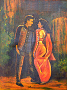Hindi Painting Prints - Dhak Dhak Print by Usha Shantharam