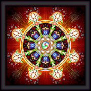 Buddhismus Framed Prints - Dharma Wheel Framed Print by Dirk Czarnota