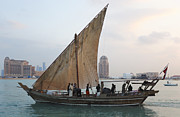 Qatar Framed Prints - Dhow and hotels Framed Print by Paul Cowan