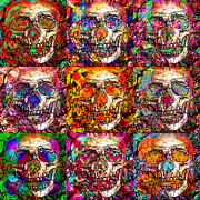 Skulls Digital Art - Dia de los Muertos by Devalyn Marshall