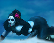 Sugar Skulls Digital Art - Dia de los Muertos - Josephine by Kevin Hill