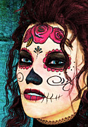 Fine Art  Of Women Paintings - Dia de los Muertos by Maynard Ellis