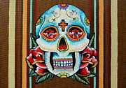Dia De Los Muertos Mixed Media - Dia de los Muertos Skull by Britt Kuechenmeister