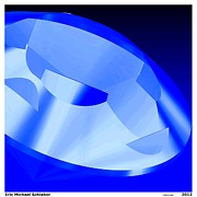 Hope Diamond Prints - Diamond Abstract Print Print by Eric  Schiabor