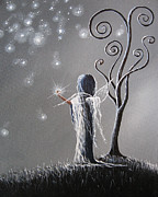 Dreams Paintings - Diamond Fairy by Shawna Erback by Shawna Erback