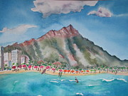 Lynn Maverick Denzer - Diamond Head at Waikiki
