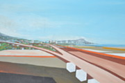 The Last Time Paintings - Diamond Head from airport by Burt Miller