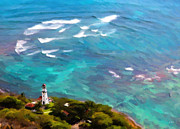 Jon Burch Photography Posters - Diamond Head Lighthouse  Poster by Jon Burch Photography