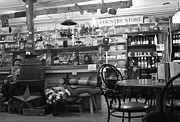 Table And Chairs Framed Prints - Diamond Hill General Store 2 in Black n White Framed Print by Gia Mate