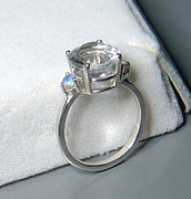 White Topaz Jewelry - Diamond Quartz and Mercury Mist Topaz Ring - LAST ONE by Robin Copper
