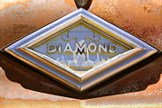 Logo Digital Art Framed Prints - Diamond T Truck Emblem Framed Print by Mike McGlothlen