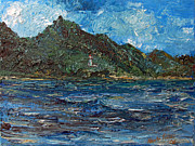 Pallet Knife Prints - Diamondhead palet Knife Print by Kristin Lester