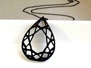 Perspex Necklace Art - Diamonds Are Forever - Teardrop Diamond Necklace by Rony Bank
