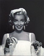 Marilyn Portrait Prints - Diamonds Are Print by Ryan Jones