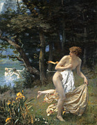 Edwards Digital Art - Dianas Maidens 1898 by Robert Edwards Hughes