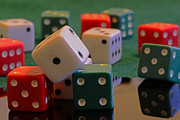 Board Game Photos - Dice by Paul Ward