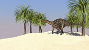Three Dimensional Posters - Dicraeosaurus In A Tropical Environment Poster by Kostyantyn Ivanyshen