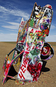 Cadillac Ranch Photos - Did not notice the stop sign by Elena Nosyreva