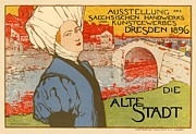 1900 Digital Art Prints - Die Alte Stadt Print by Sanely Great