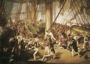Battle Of Trafalgar Metal Prints - Dighton, Denis 1792-1827. The Fall Metal Print by Everett