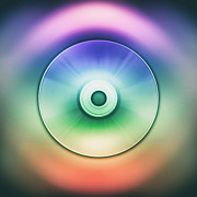 Round Digital Art Prints - Digital Eye Print by Wim Lanclus