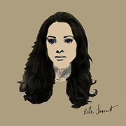 Kate Farrant - Digital Sepia Woman Painting