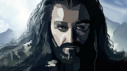 Dwarves Posters - Digital Thorin 1 Poster by Kayleigh Semeniuk