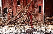 Cheryl Cencich - Dilapidated Barn And Pump