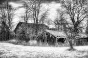 Jeff Holbrook Art - Dilapidated Barns by Jeff Holbrook