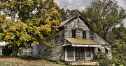 Old Houses Metal Prints - Dilapidated Metal Print by Heather Applegate