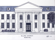 Buildings Art Posters - Dillard University Poster by Frederic Kohli