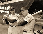Sports Legends Posters - Dimaggio and Mantle Poster by Pg Reproductions