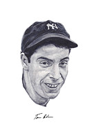 Baseball Painting Metal Prints - Dimaggio Metal Print by Tamir Barkan