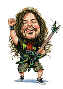 Caricaturist Paintings - Dimebag Darrell by Art
