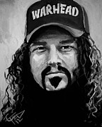 Dimebag Paintings - Dimebag Darrell by Tom Carlton