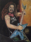Dimebag Paintings - Dimebag by John Pasdach