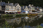Riversides Prints - Dinan - Old Town By The Riverside Print by Heiko Koehrer-Wagner