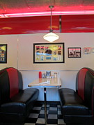 Charlotte Photo Posters - Diner Booth Poster by Randall Weidner