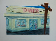 American Food Paintings - Diner by Declan Leddy