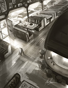 Alex Ruiz Metal Prints - Diner Interior Metal Print by Alex Ruiz