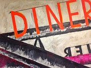 Midcentury Painting Prints - Diner Print by Sarah Jane Thompson