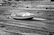 Dinghy Posters - Dinghy at Low Tide Poster by Louise Heusinkveld