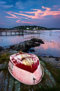 Maine Shore Prints - Dinghy Print by Benjamin Williamson