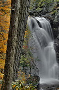 Dingmans Falls Framed Prints - Dingman Falls In Autumn Framed Print by Stephen  Vecchiotti